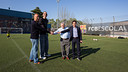 Barrufet, Dueñas, Fusté and Amor, FCBEscola sponsors / PHOTO: GERMÁN PARGA - FCB
