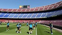Training session at Camp Nou | PHOTO: MIGUEL RUIZ