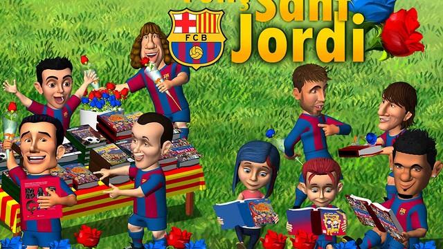 Els Barça Toons de Sant Jordi.