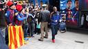 Éric Abidal arribant a l'hotel de concentració de Munic / FOTO: MIGUEL RUIZ - FCB