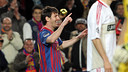 Messi face à Leverkusen / PHOTO: ARXIU FCB