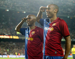 Eto'o i Henry / FOTO: ARXIU FCB