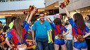 FCB Alusport visit with fans at L'Illa Diagonal