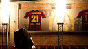 Borregán's jersey at the Palau. PHOTO: ÁLEX CAPARRÓS - FCB