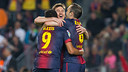 Messi, Alexis and Iniesta PHOTO: ARXIU FCB