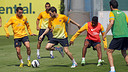 Les joueurs  l'entrainement / PHOTO: MIGUEL RUIZ - FCB