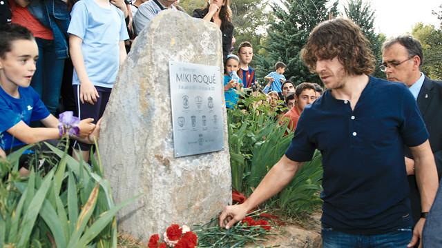Carles Puyol at Miki Roqué's commemorative ceremony / PHOTO: Ajuntament de Tremp