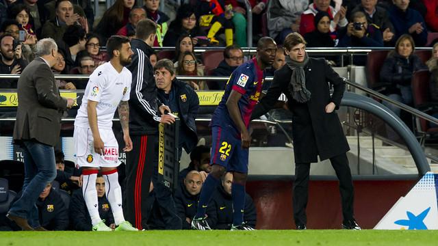 Abidal and Tito Vilanova / PHOTO: ÀLEX CAPARRÓS-FCB.