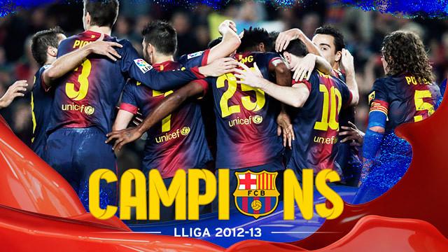 2012/13 league champions!