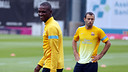 Abidal y Mascherano, este viernes / FOTO: MIGUEL RUIZ - FCB