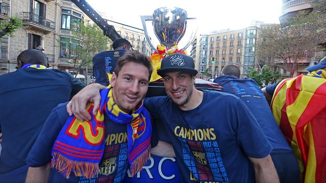 Messi and Pinto / PHOTO: MIGUEL RUIZ - FCB