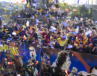 Rua de celebraci de la Lliga 2012/13 / FOTO: GERMAN PARGA - FCB