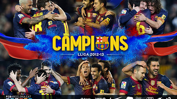 League Champions 2012/13 wallpaper with the word campions and pictures of players