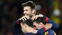 Piqué, Xavi and Messi in a match / PHOTO: MIGUEL RUIZ-FCB