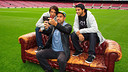 Eric Koston, Paul Rodrguez y Sean Malto, en el Camp Nou. FOTO: NIKE