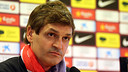 Tito Vilanova, durante la rueda de prensa. FOTO: MIGUEL RUIZ - FCB