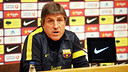 Press conference. Jordi Roura PHOTO: MIGUEL RUIZ-FCB.