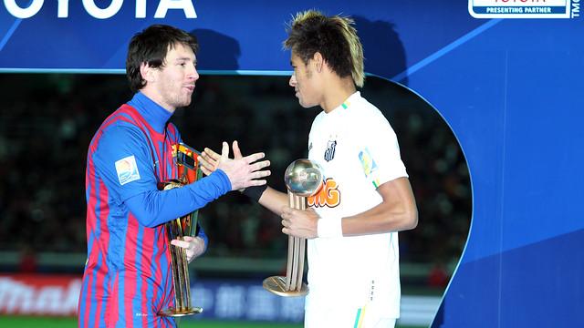 نيمار وميسي في نهائي كأس العالم للأندية عام 2011 / FOTO: MIGUEL RUIZ - FCB