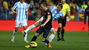 Iniesta in action against Malaga. PHOTO: MIGUEL RUIZ - FCB