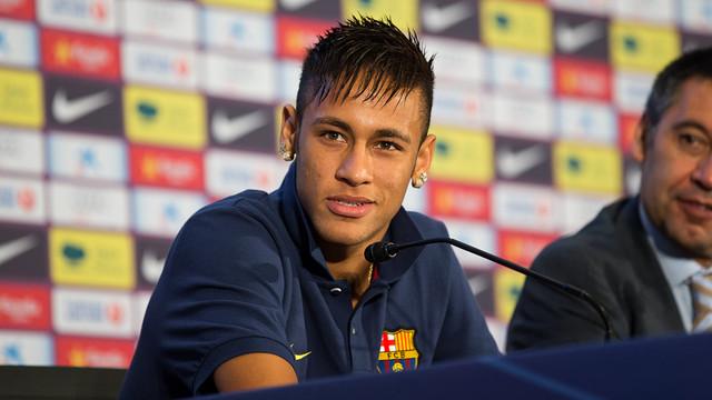 Neymar, durant una roda de premsa / FOTO: GERMÁN PARGA-FCB