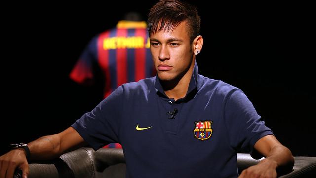 Entrevista a Neymar per a Barça TV i www.fcbarcelona.cat / FOTO: MIGUEL RUIZ - FCB