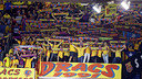 Fans at the Palau Blaugrana / PHOTO: ARCHIVO FCB.