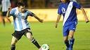 Messi in action against Guatemala / FOTO: www.afa.com