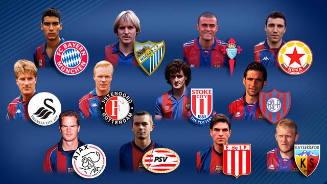 Exjugadors del FC Barcelona als seus equips actuals