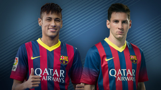 Neymar Jr and Messi