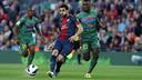 Le Barça a gagné contre le Levante par 1-0 au dernier match au Camp Nou / PHOTO: ARXIU FCB