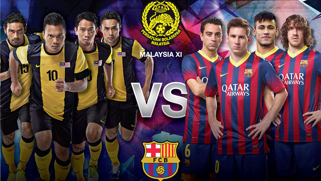 Poster for FC Barcelona's game in Malaysia