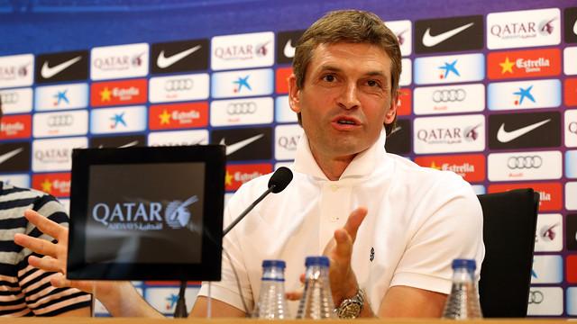 Tito Vilanova, durante la rueda de prensa. FOTO: MIGUEL RUIZ — FCB