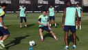 Messi, durant l'entrenament. FOTO: MIGUEL RUIZ - FCB