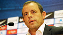 President Sandro Rosell, at the press conference  PHOTO: MIGUEL RUIZ-FCB