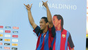 Ronaldinho's presentation. PHOTO: MIGUEL RUIZ-FCB.