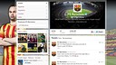 El Barça a Twitter