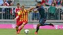 Dani Nieto, durant el partit a l'Allianz Arena / FOTO: MIGUEL RUIZ-FCB