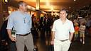 Tata Martino, arribant a l'aeroport d'Oslo / FOTO: MIGUEL RUIZ-FCB
