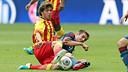 Sergi Roberto i Lahm. FOTO: MIGUEL RUIZ-FCB.
