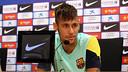 Neymar Júnior during teh press conference / PHOTO: MIGUEL RUIZ - FCB