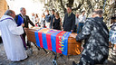 Antoni Ramallets' funeral was held in Sant Joan de Mediona / PHOTO: GERMÁN PARGA - FCB
