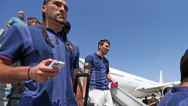 Pinto and Messi, in an archive image / PHOTO: MIGUEL RUIZ - FCB
