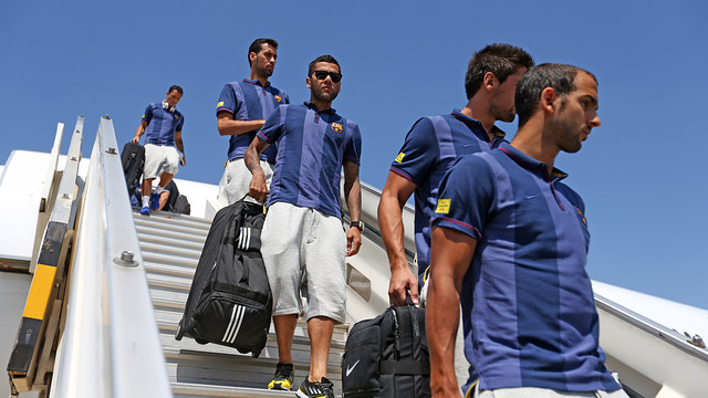 The players during the tour / PHOTO: ARXIU FCB