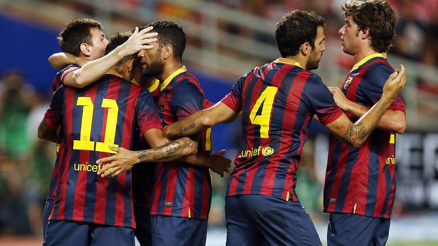El Barça ha marcado 27 goles en 6 partidos de pretemporada / FOTO: MIGUEL RUIZ — FCB