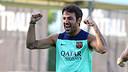 Cesc Fàbregas es recupera de l'esquinç al turmell dret / FOTO: MIGUEL RUIZ -  FCB
