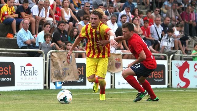 Patric started against Huelva / PHOTO: ARXIU FCB