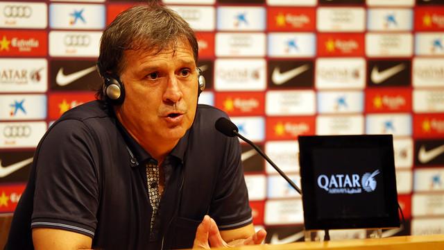 Martino, en roda de premsa. FOTO: MIGUEL RUIZ - FCB