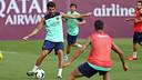 Cesc Fàbregas durant l'entrenament d'aquest dissabte / FOTO: MIGUEL RUIZ - FCB