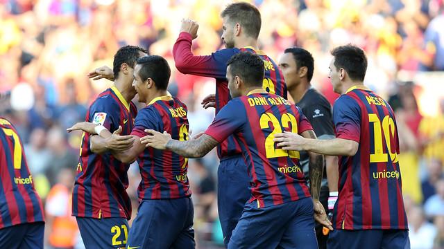 El Barça està golejant al Llevant / FOTO: MIGUEL RUIZ - FCB
