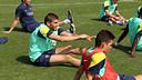 Sergio Juste during a training session / PHOTO: MIGUEL RUIZ - FCB